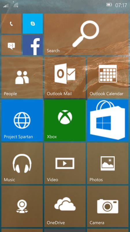 Screenshot, Windows 10 Mobile Insiders Preview feature