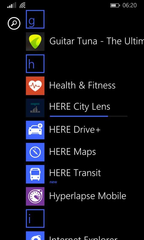 Screenshot, Windows Phone 8.1 in 2018