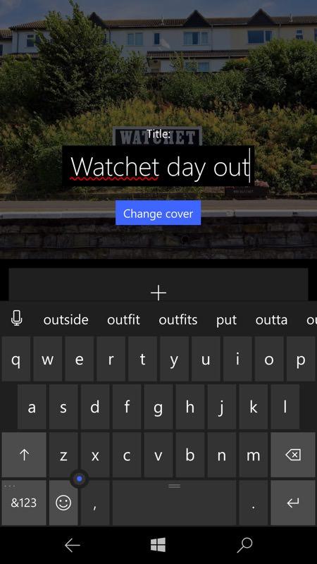 Screenshot, album sharing feature