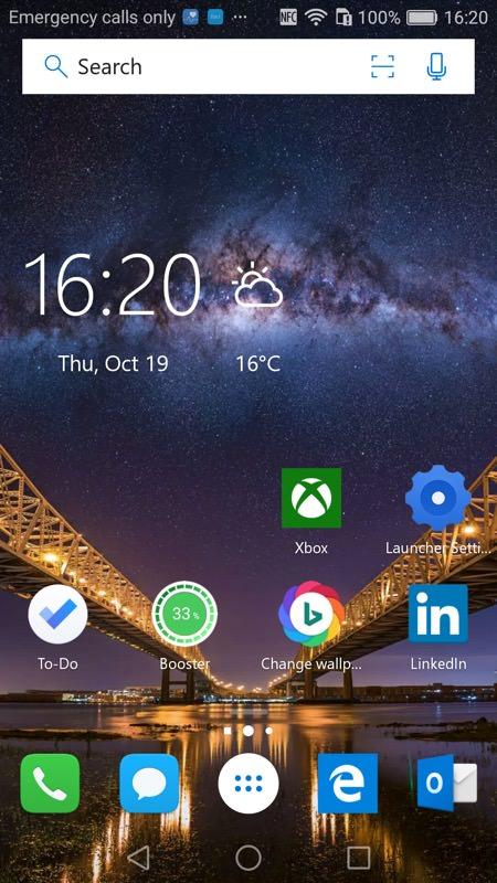 Screenshot, MS Launcher