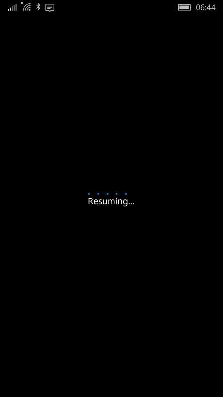 Screenshot, Windows 10 Mobile Build 10536