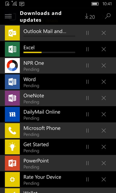 Screenshot, Windows 10 Mobile upgrade