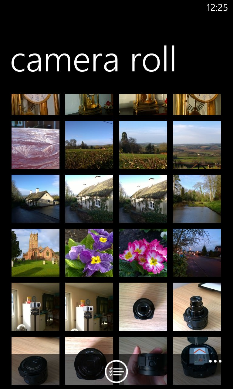 Screenshot, Camera Roll navigation tutorial