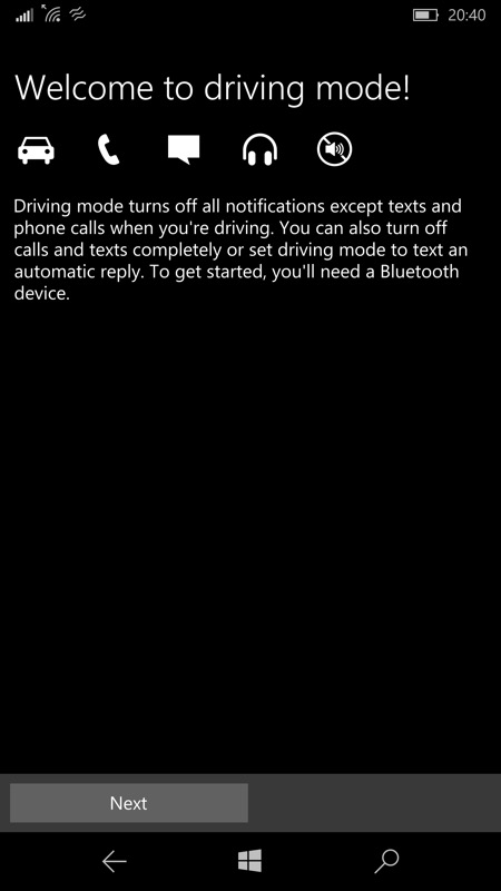 Screenshot, Cortana when driving
