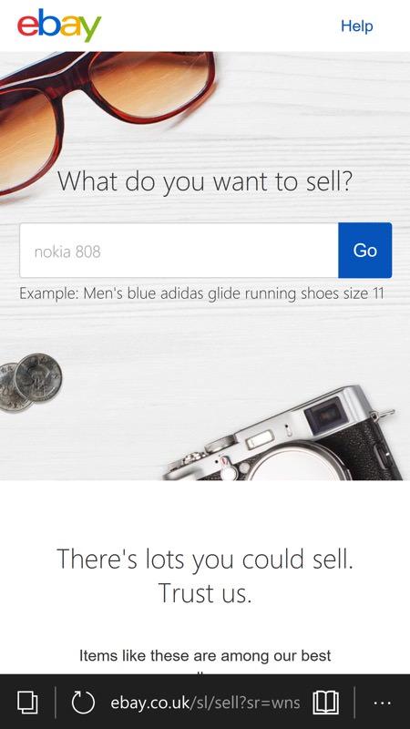 eBay via Edge tutorial