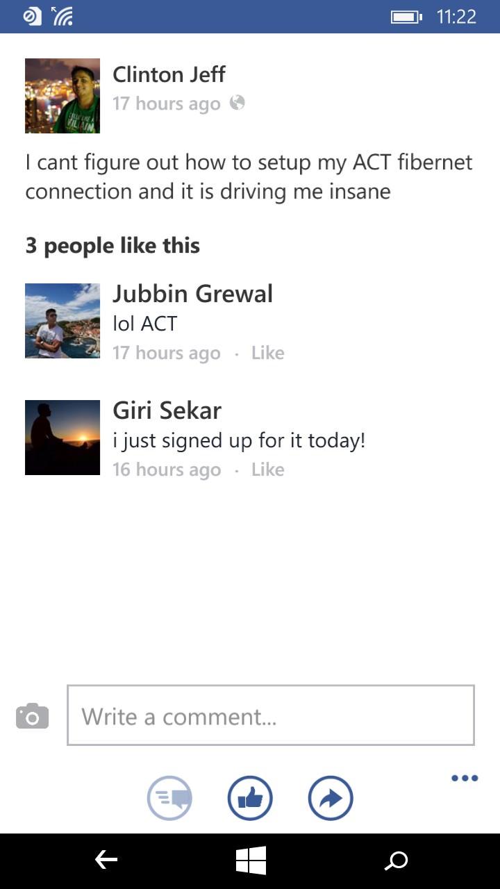 Screenshot, Facebook integration