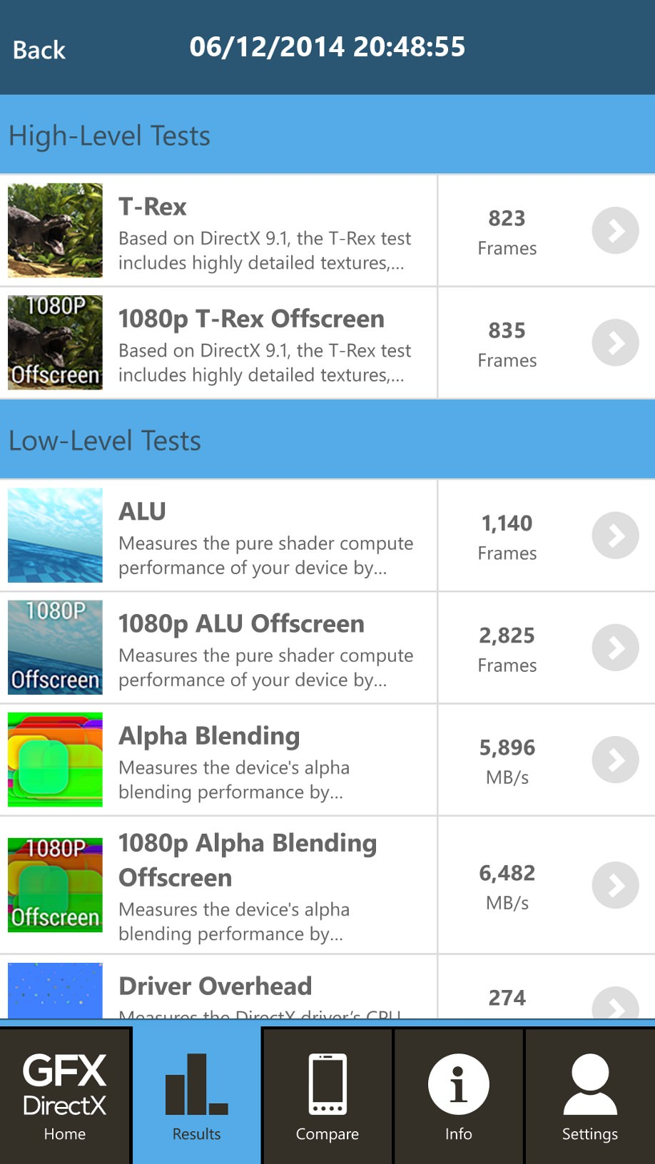Screenshot, GFXBench