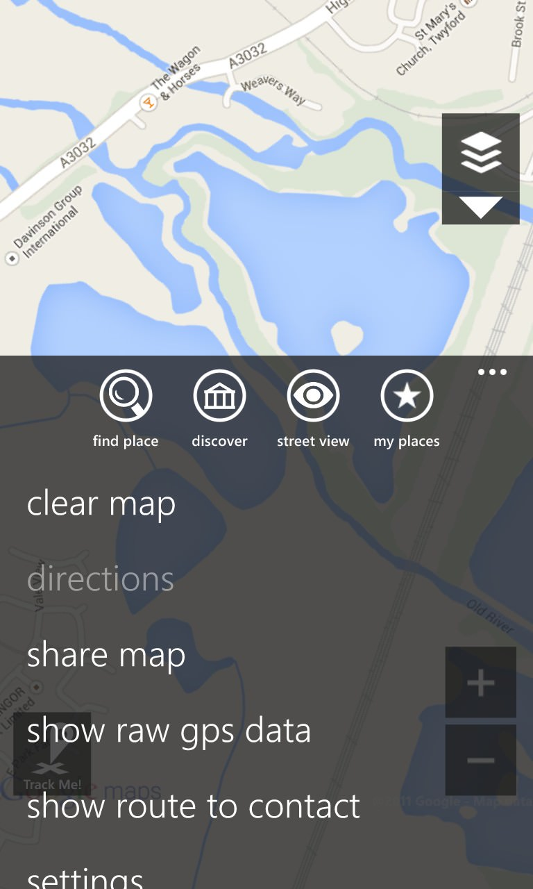 Screenshot, gMaps