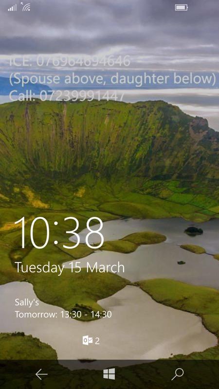 Screenshot, ICE feature