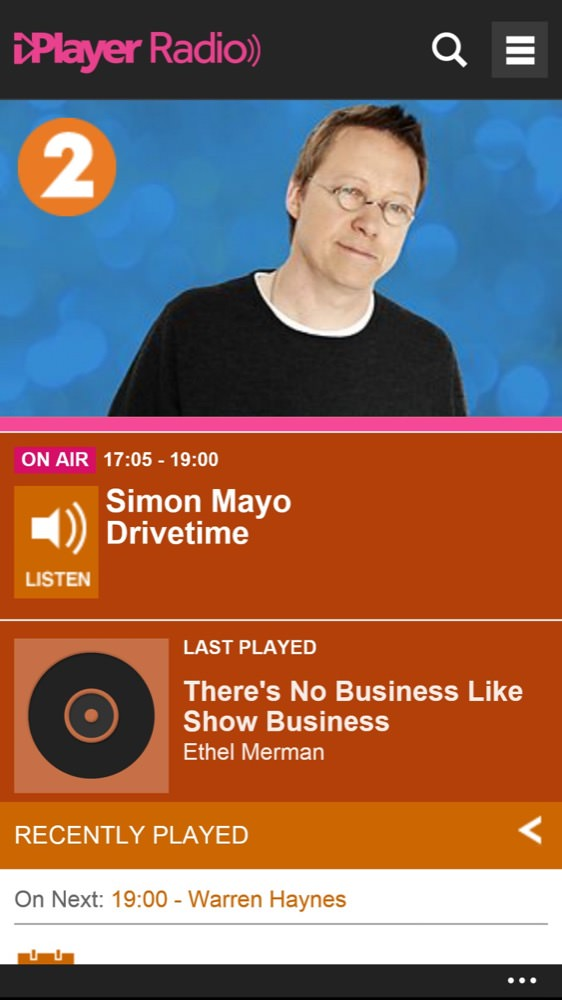 iPlayer screenshot