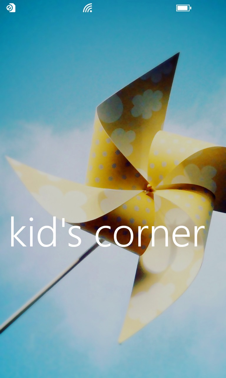 Screenshot, Kids Corner tutorial