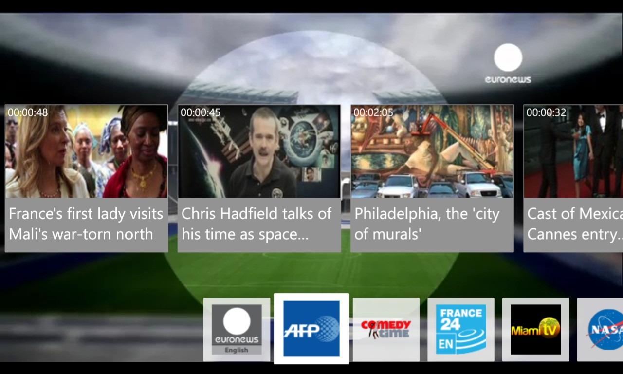 Screenshot, Live TV feature