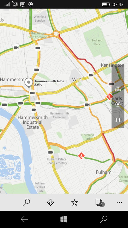 Screenshot, Windows 10 Maps and traffic