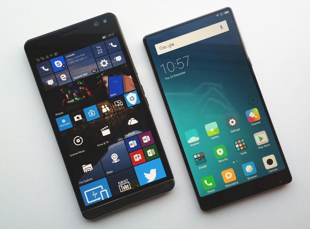 HP Elite X3 and Xiaomi Mi Mix 18K