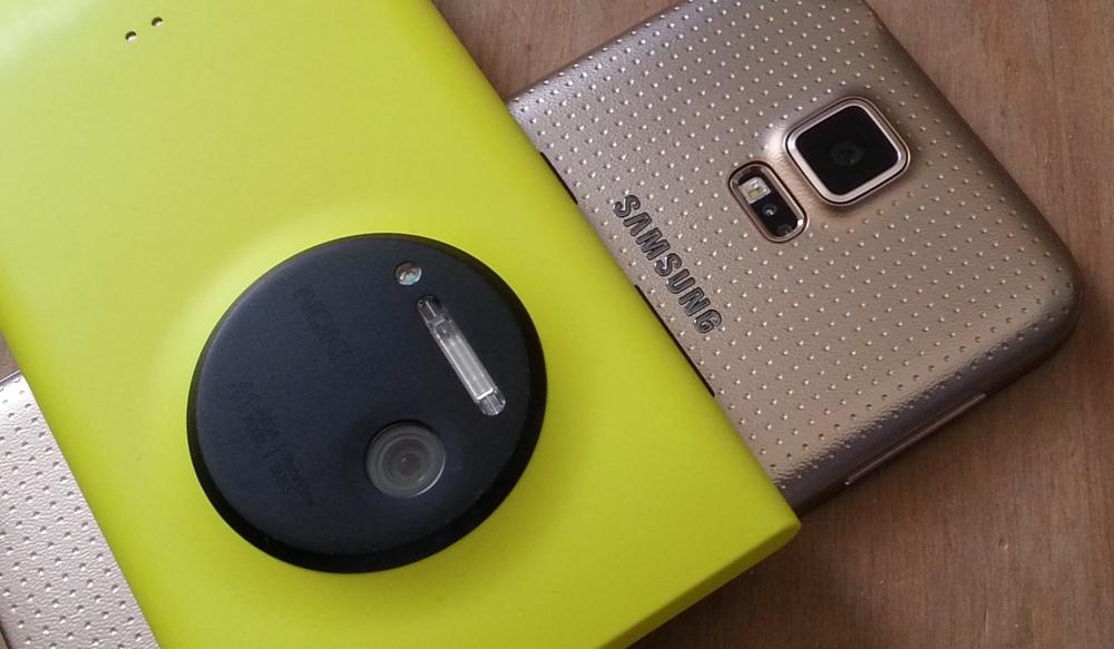 Lumia 1020 and Galaxy S5