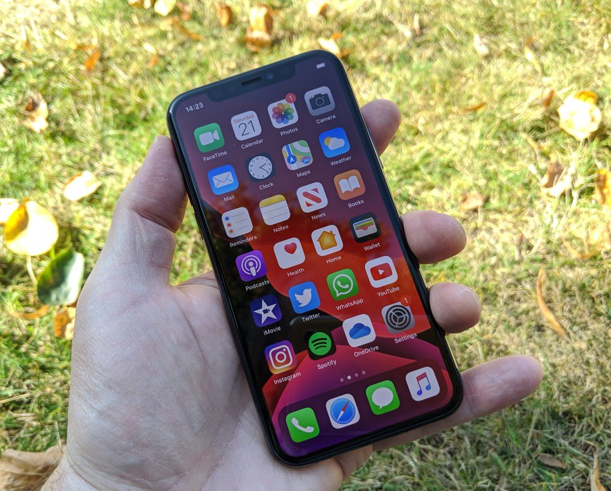iPhone 11 Pro in hand