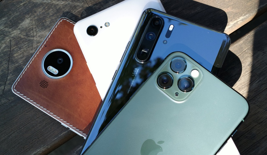 iPhone 11 Pro, Lumia 950 XL, etc.