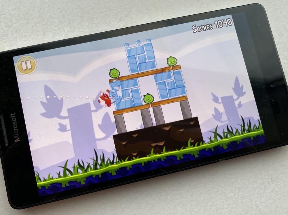 Angry Birds on the Lumia 950