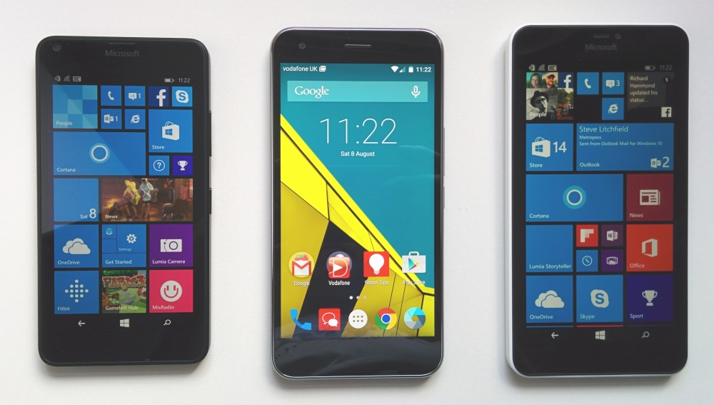Lumia 640, Vodafone Smart Ultra 6, Lumia 640 XL