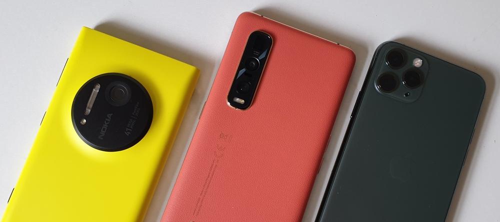 Lumia 1020, Find X2 Pro, iPhone 11 Pro