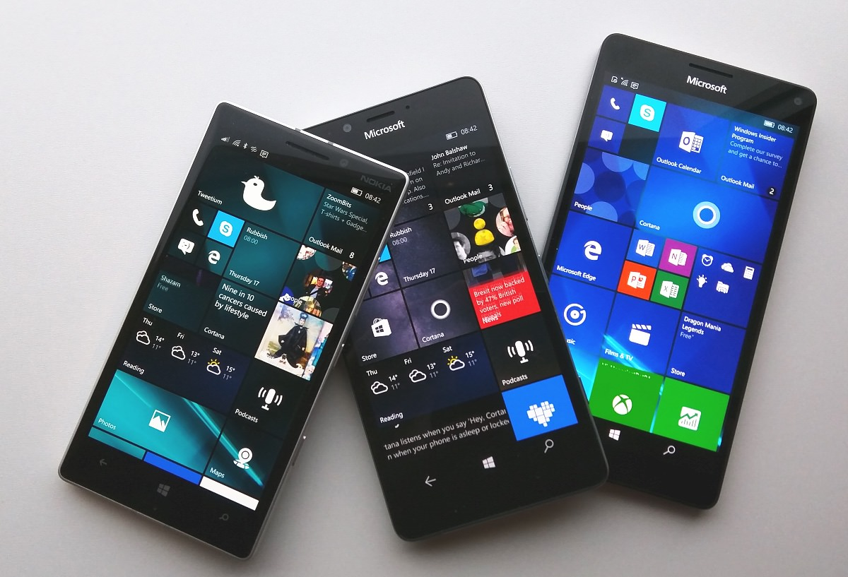 Lumia 930, 950 and 950 XL