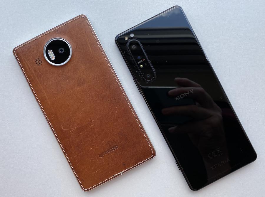 Lumia 950 XL and Sony Xperia 1 II