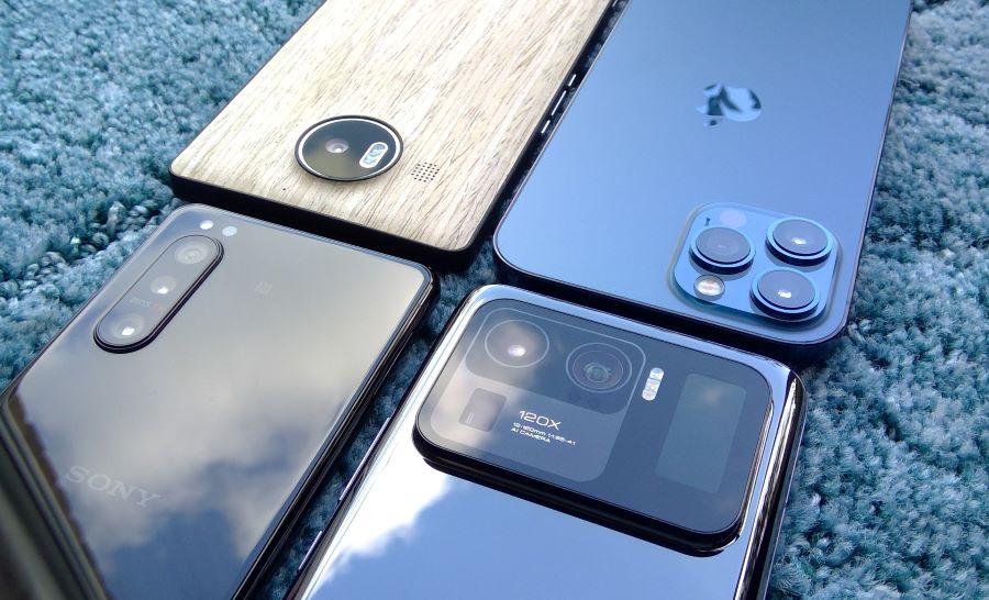 Lumia 950 XL, iPhone 12 Pro Max, Sony Xperia 5 ii, Xiaomi Mi 11 Ultra