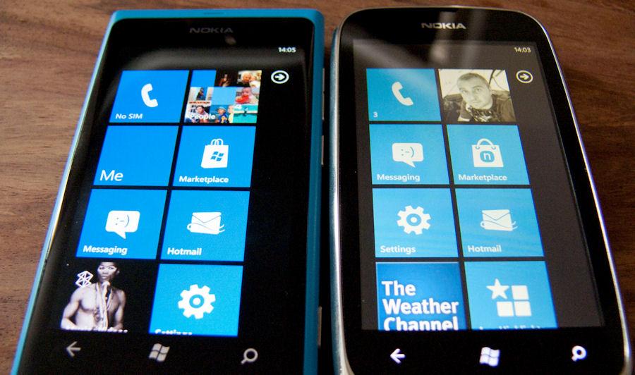 Nokia Lumia 800 versus Lumia 610
