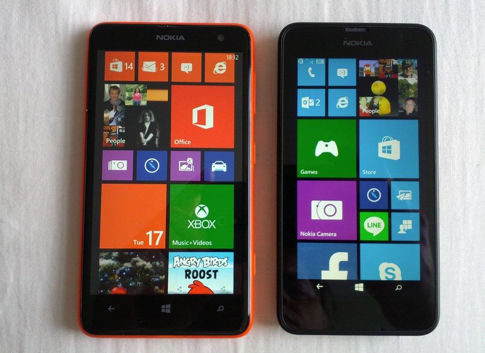 Lumia 625 and 630