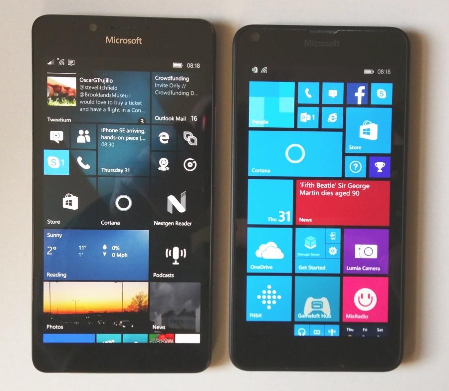Lumia 950 and 640
