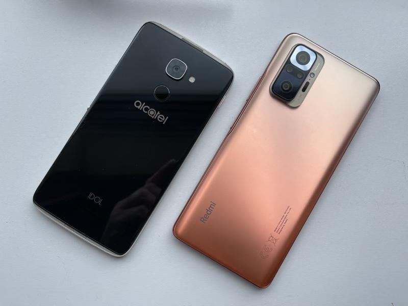 IDOL 4 Pro and Xiaomi Redmi Note 10 Pro