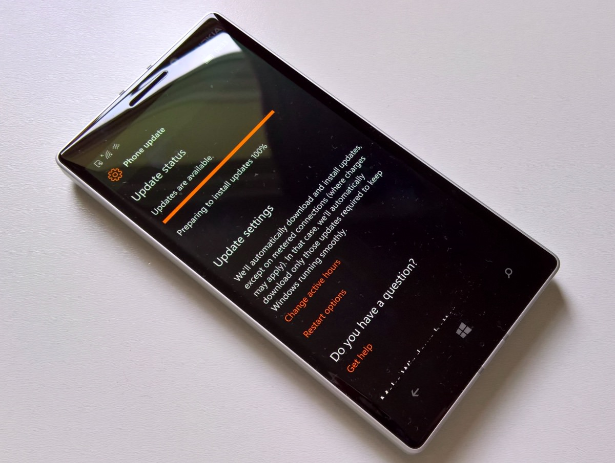 Lumia 930 updating