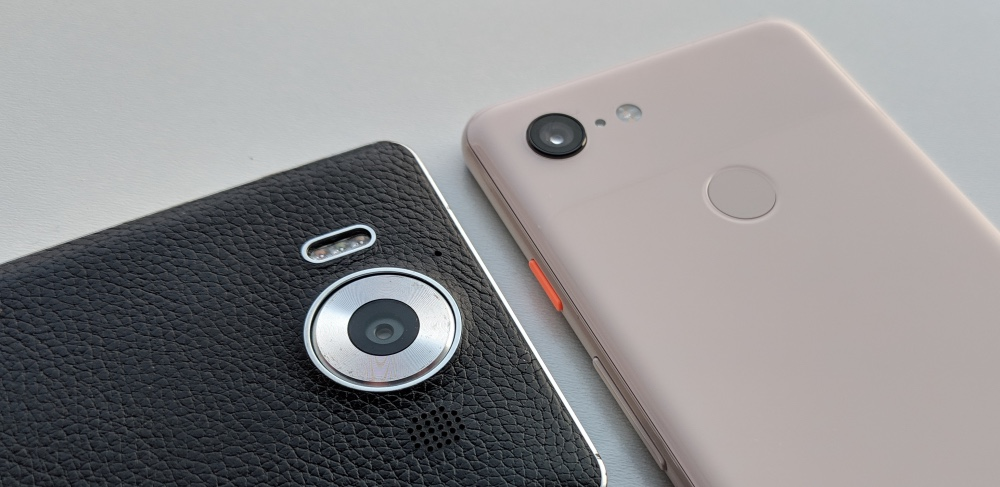 Lumia 950 and Pixel 3