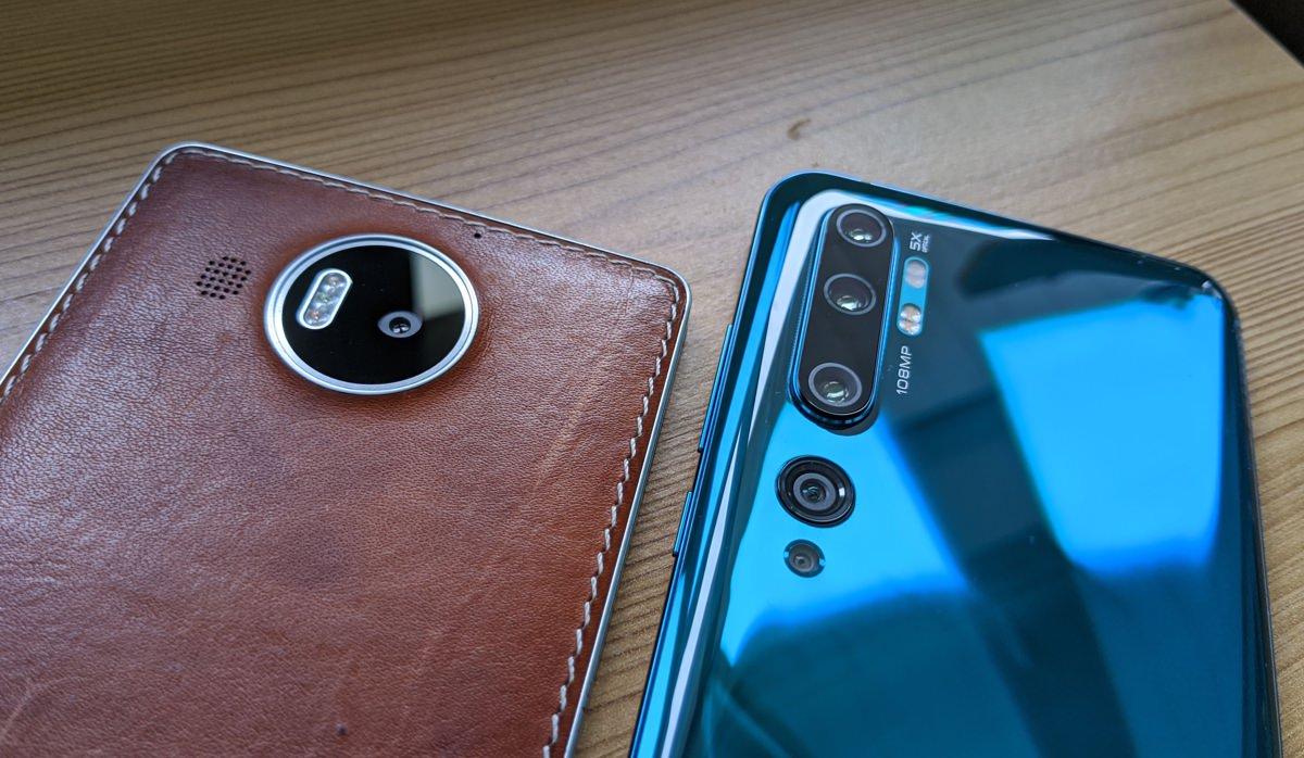 Lumia 950 XL and Xiaomi Mi Note 10