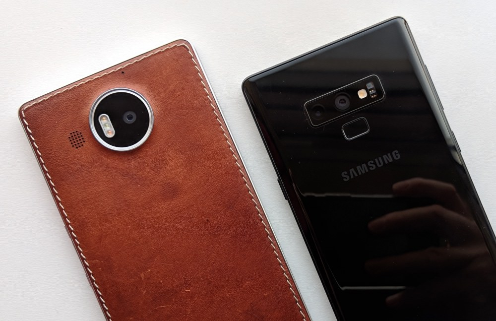 Lumia 950 XL and Note 9
