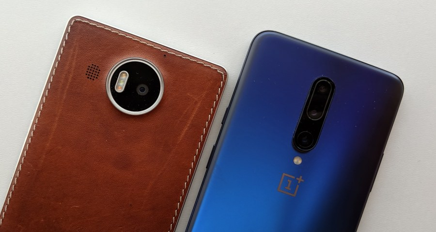 Lumia 950 and OnePlus 7 Pro