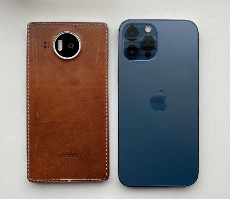 Lumia 950 XL and iPhone 12 Pro Max
