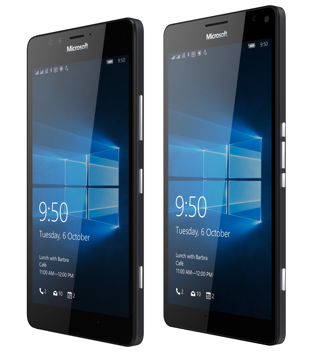 Lumia 950 and 950 XL, to scale