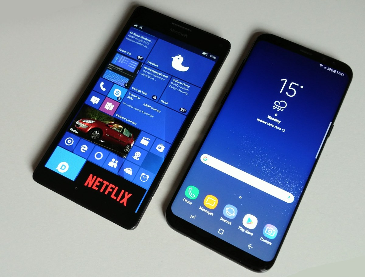 Lumia 950 XL and Galaxy S8+
