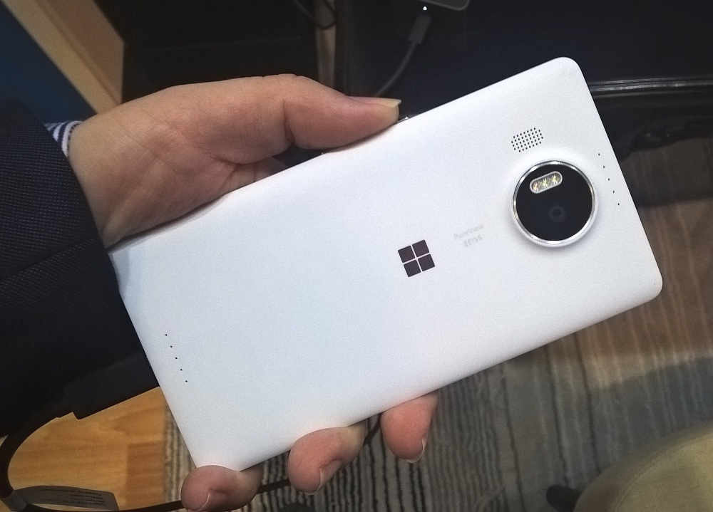 Lumia 950 XL in Rafe's hand