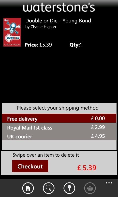 Waterstone's Windows Phone app