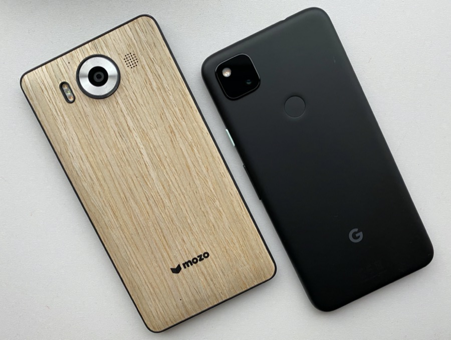 Lumia 950 and Pixel 4a