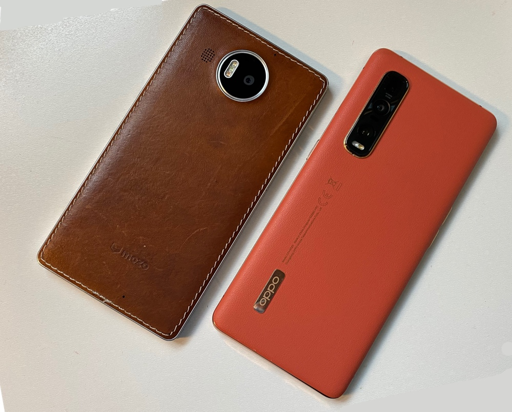 Lumia 950 XL and OPPO Find X2 Pro