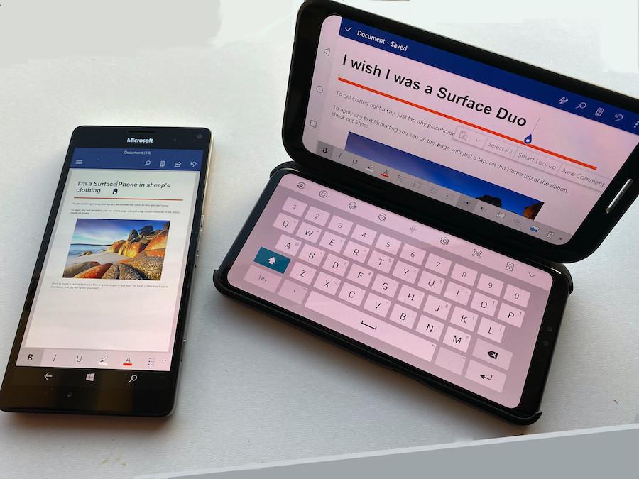 Lumia 950 XL and LG V50 Dual Screen