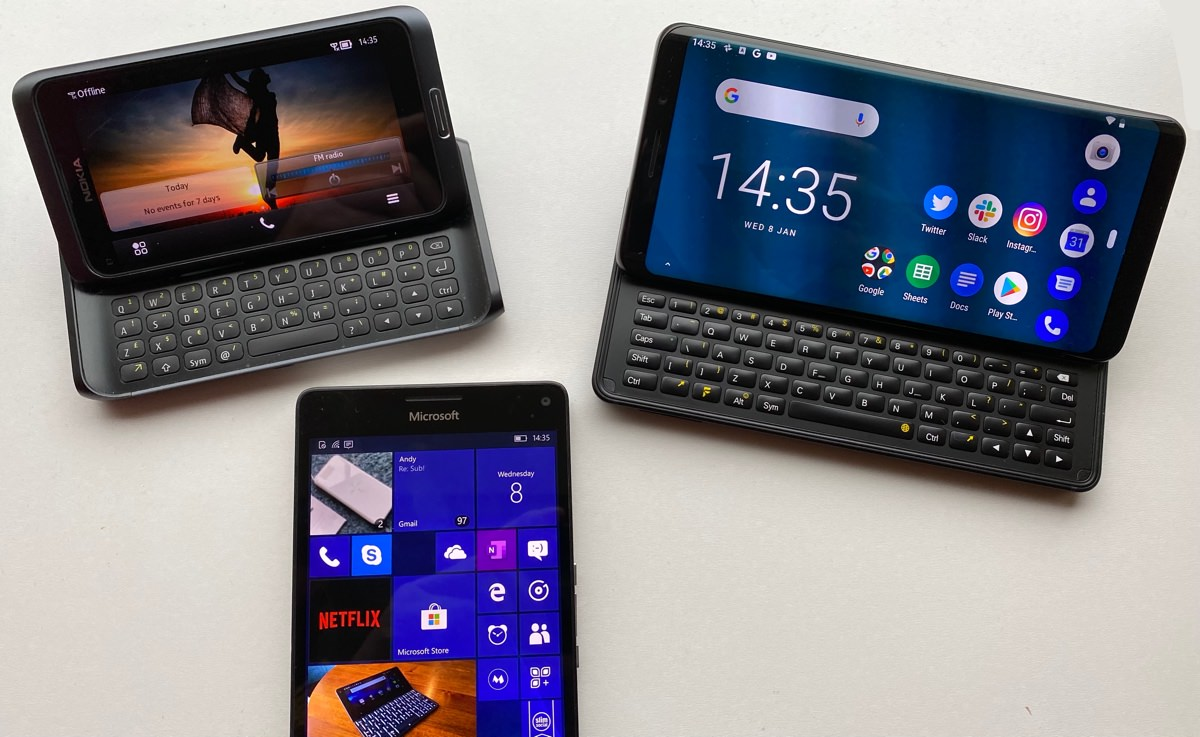Nokia E7, Lumia 950 XL, f(x)tec Pro1