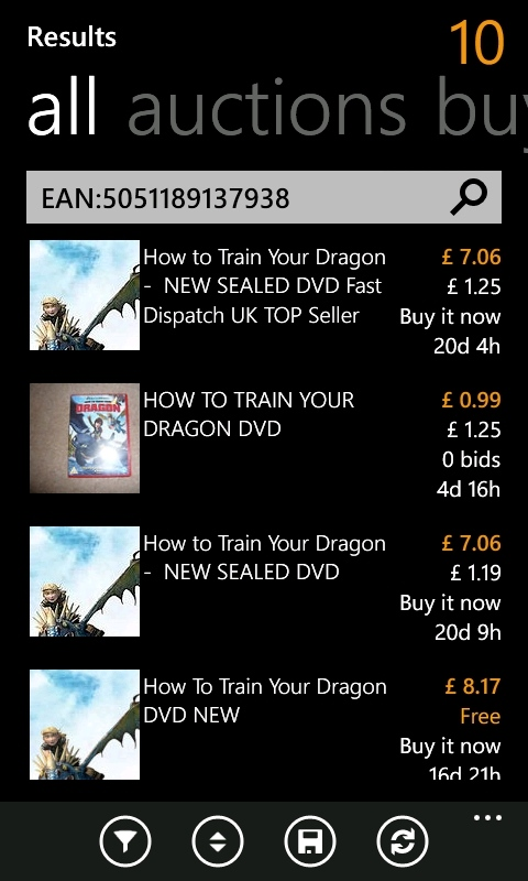 Ebay on Windows Phone
