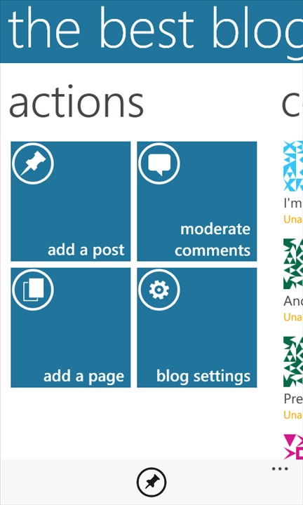WordPress on Windows Phone