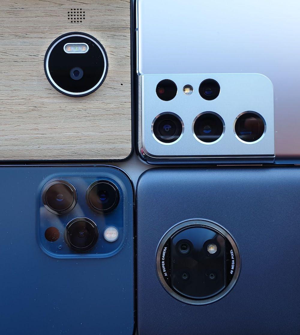 Four phone cameras