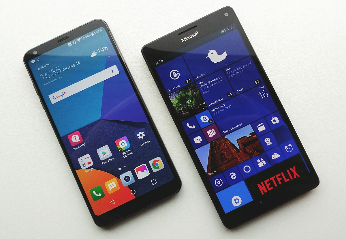 LG G6 and Lumia 950 XL