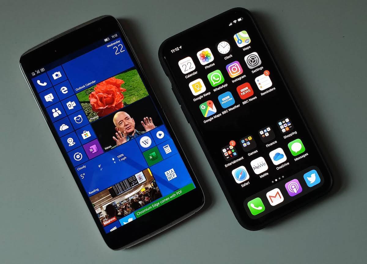 IDOL 4 Pro and iPhone 11 Pro